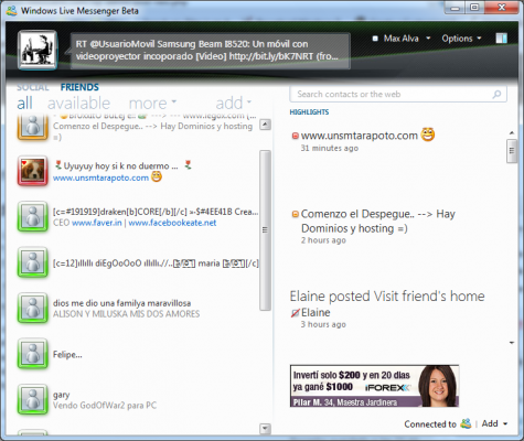 Windows Live Messenger 2010 Gratis para Descargar