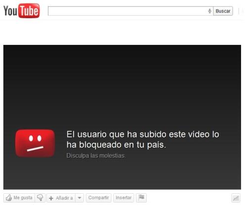 Desbloquear  vídeos de YouTube con ProxyTube
