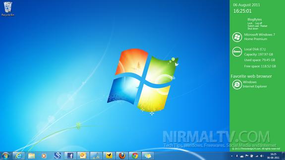 Barra tipo Windows 8 para escritorio | Metro Sidebar
