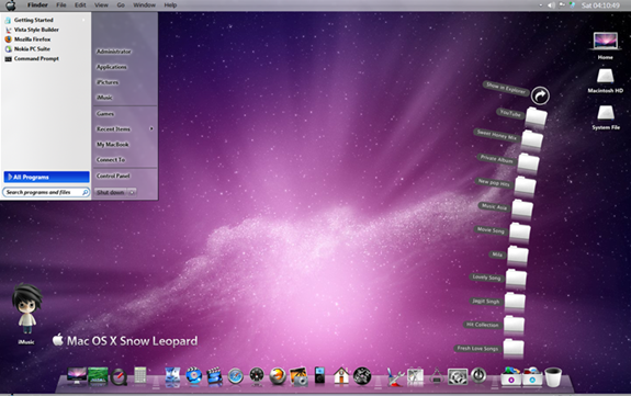 Tema para Windows 7 de Snow Leopard