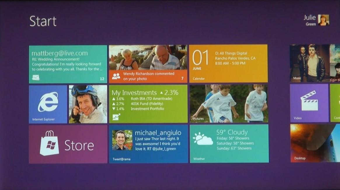 Información y características de Windows 8