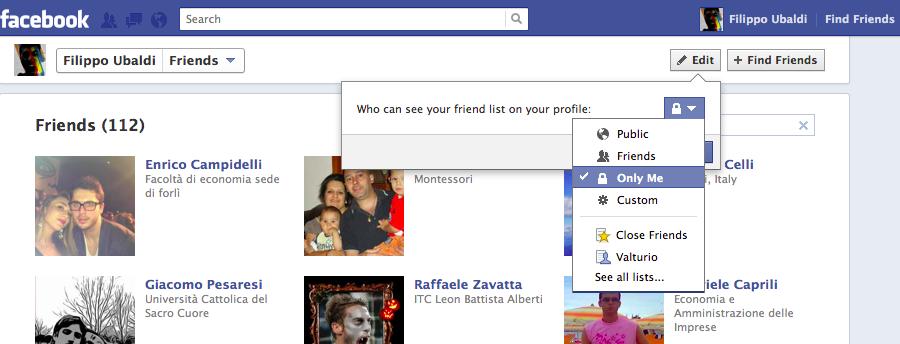 Como ocultar mis fotos en Facebook