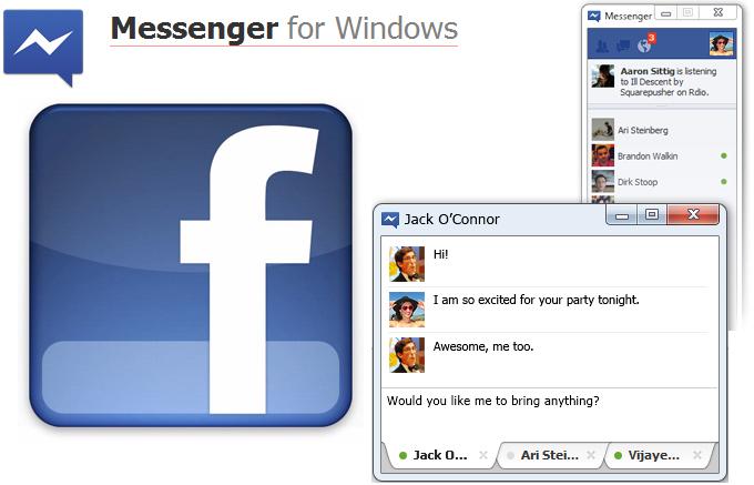 Facebook Messenger para Windows, aplicación oficial de Facebook