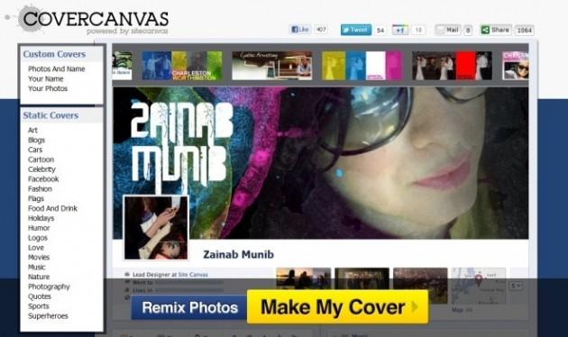 Crear portadas para la biografía de Facebook o Timeline
