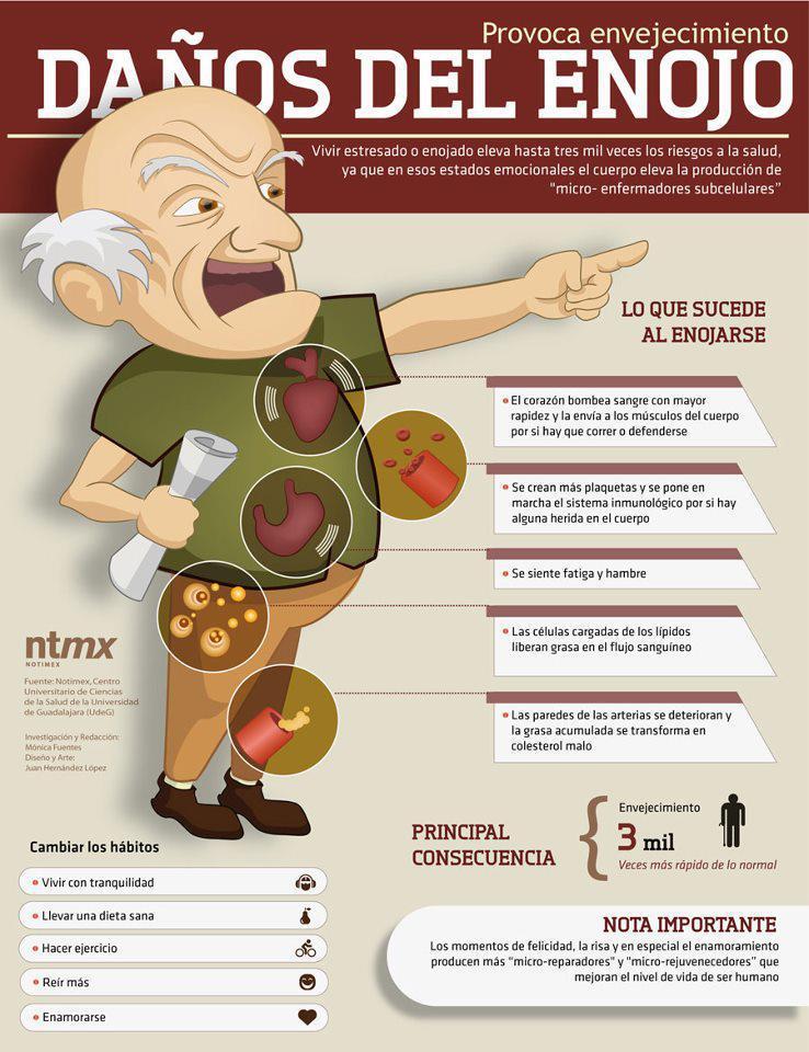 Envejecer mas rápido   El enojo acelera el envejecimiento