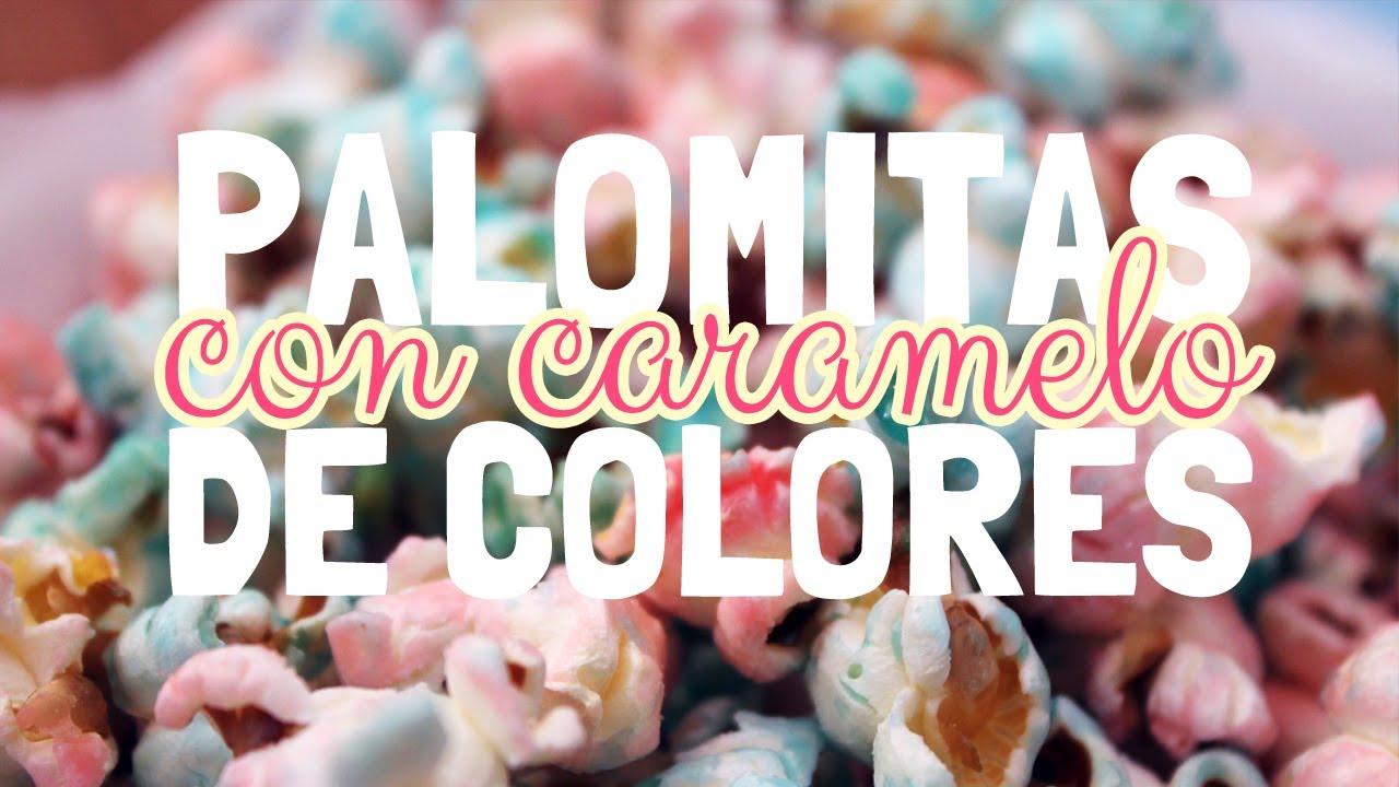 Como hacer pochoclos de colores