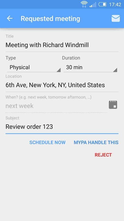 Asistente personal Mypa, compatible con iOS y Android