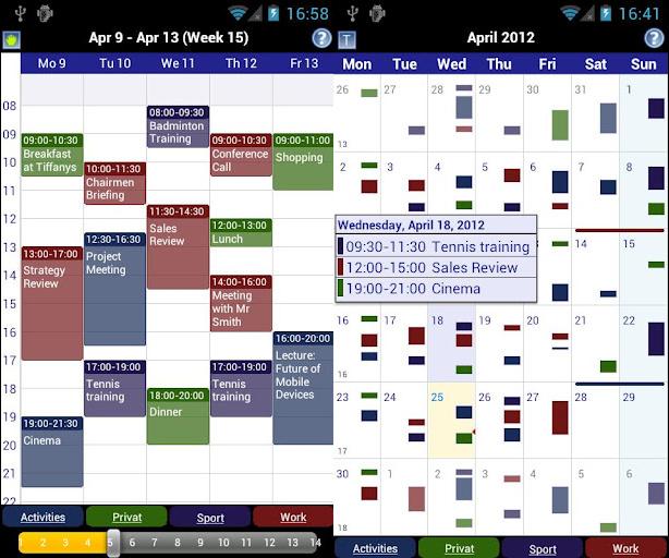 Gestionar tareas con Business Calendar para Android