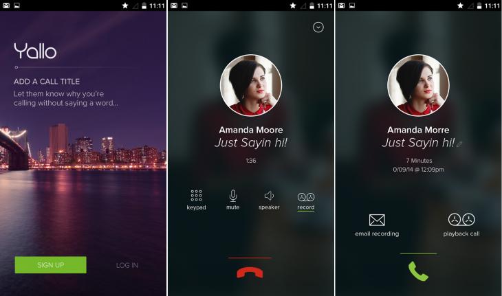 Yallo para Android permite realizar llamadas de voz gratuitas