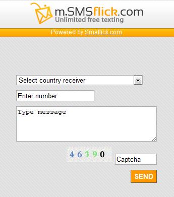 SmsFlick.com: Mandar mensajes SMS gratis a Movistar, Claro, Personal, Telcel