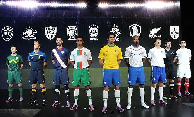 Uniformes de los Equipos del Mundial Sudafrica 2010