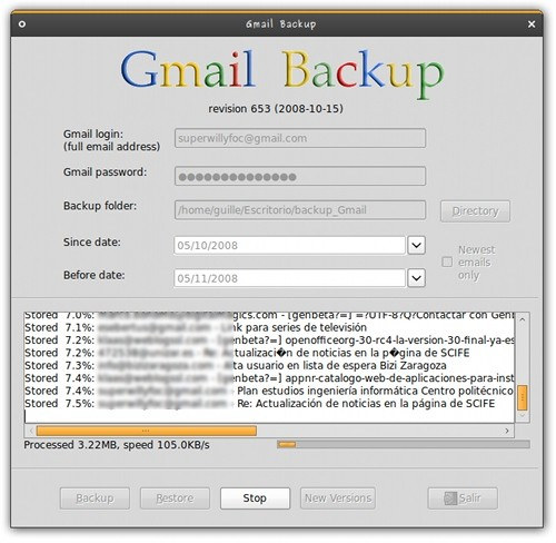 Gmail BackUp: Copias de Seguridad de tu Correo Gmail