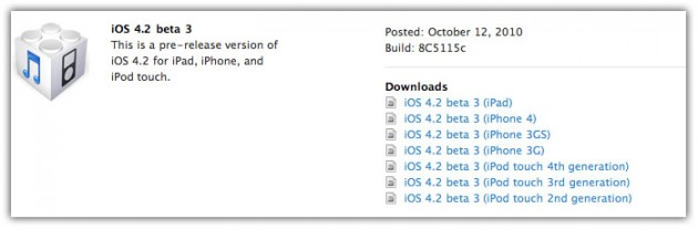iOS 4.2 SDK beta 3 para iPad, iPod Touch y iPhone (Descargar)