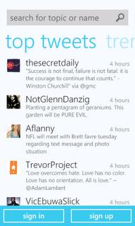 Nueva aplicacion de Twitter para Windows Phone 7