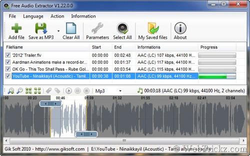 Extraer y convertir pistas de audio de videos