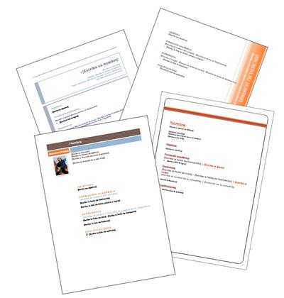 Plantillas en Word de Curriculum Vitae para descargar gratis