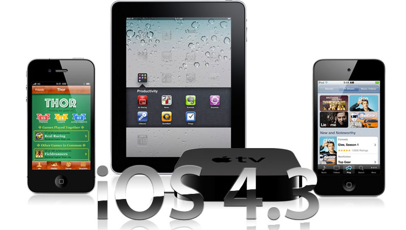 iOS 4.3 para iPhone, iPad e iPod ya disponible