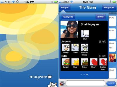 Red social para celulares, Mogwee