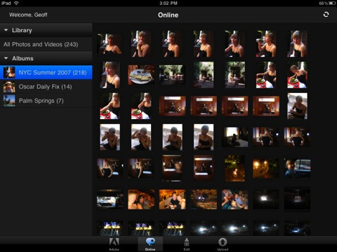 Editar fotos en iPad con Photoshop Express 2.0