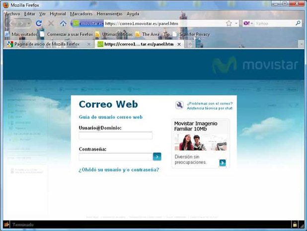 Telefonica.net: Correo electrónico de telefónica