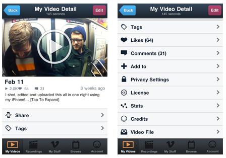 Vimeo, editor de video para iPhone