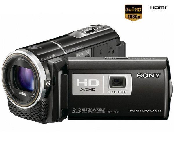 Video camara y proyector HD, Sony HDR-PJ10