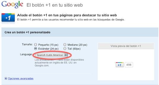 Boton +1 de Google para tu blog