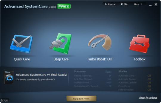 Advanced SystemCare 4, Optimización completa del PC