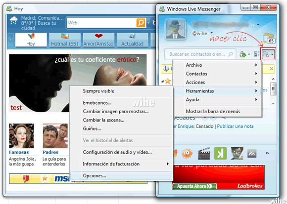 Eliminar MSN hoy al iniciar sesion en Messenger