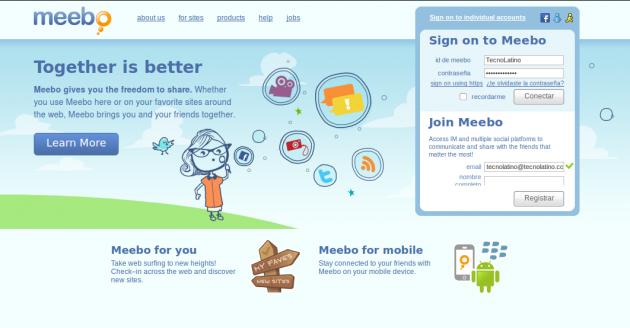 Meebo: Messenger, Hotmail, Facebook, todas tus cuentas desde un solo lugar