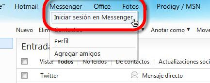 Entrar a MSN desde Hotmail