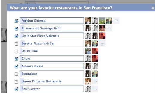 Las nuevas preguntas de Facebook, nuevo servicio
