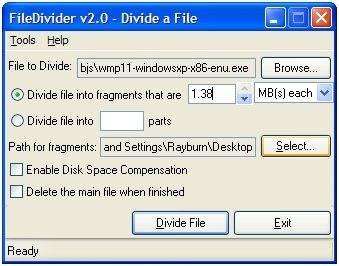 Dividir archivos grandes | FileDivide