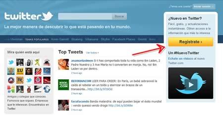 Crear Cuenta en Twitter | Registrarse en Twitter