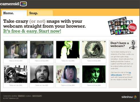 Cameroid | sacar fotos en línea con tu webcam