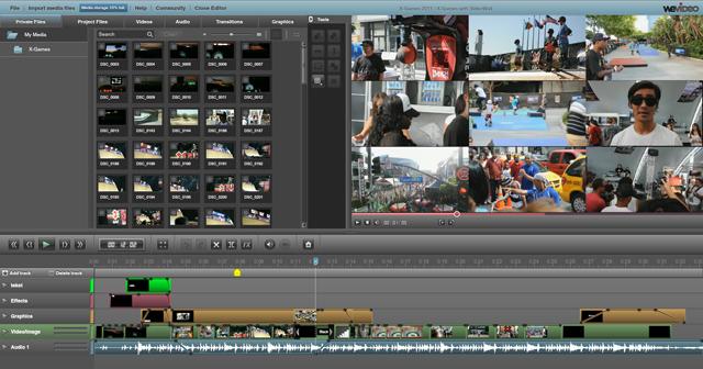 Editor de vídeos en línea Wevideo