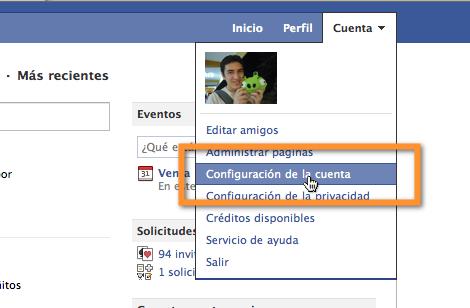 Como descargar información de Facebook a la PC