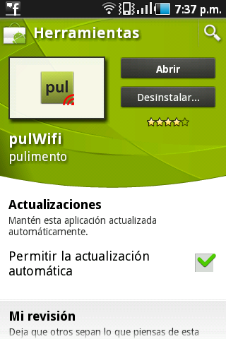 PulWifi Android | obtener claves Wifi para Android