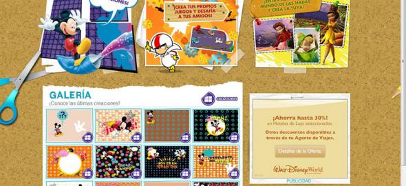"""Disney """"Crea tu Juego"""" en DisneyLatino.com"""