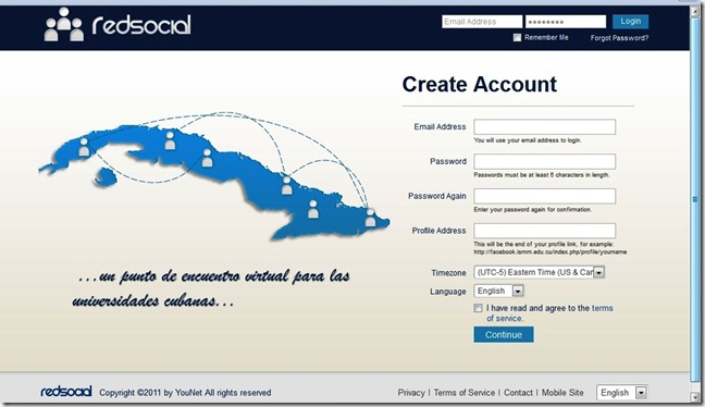 El Facebook cubano RedSocial (el clon de facebook)