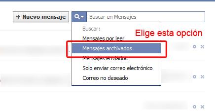 Como recuperar los mensajes borrados en Facebook