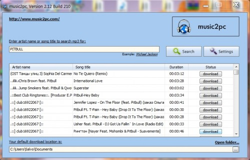 Toda la música para descargar gratuitamente con music2PC