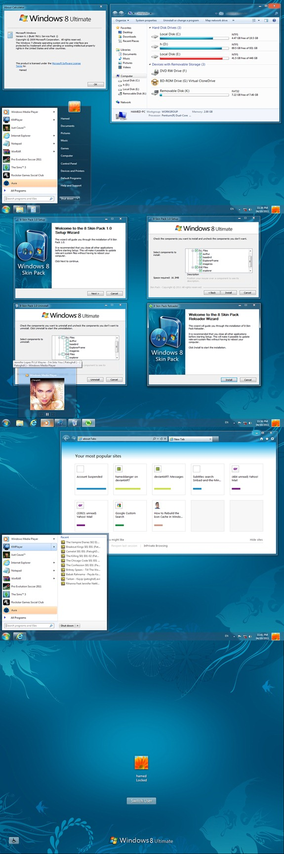 Descargar Tema de Windows 8 para Windows 7