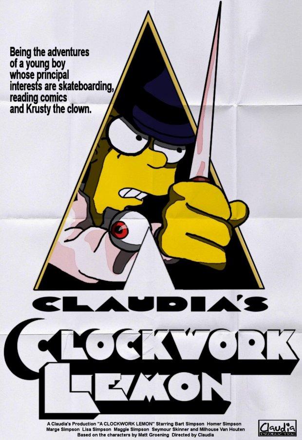 Parodias de películas en posters con Los Simpsons
