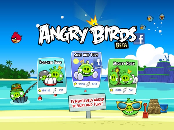 Como obtener 3 estrellas en todos los niveles de Angry Birds Facebook