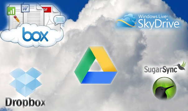 Dropbox vs Google Drive vs Box.net vs SugarSync vs SkyDrive (Comparativa)