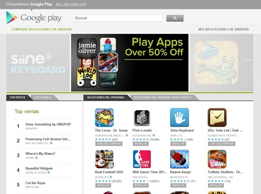 Google Play, las aplicaciones para Android