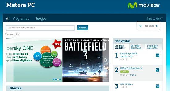 Tienda Movistar Mstore: Descarga Juegos y programas