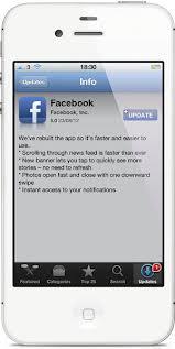 Facebook para iPhone (iOS) actualizada