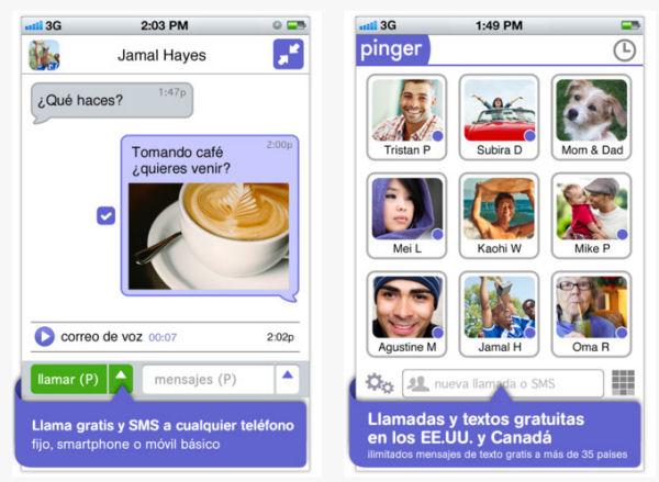 Pinger iOS: SMS y Llamadas gratuitas